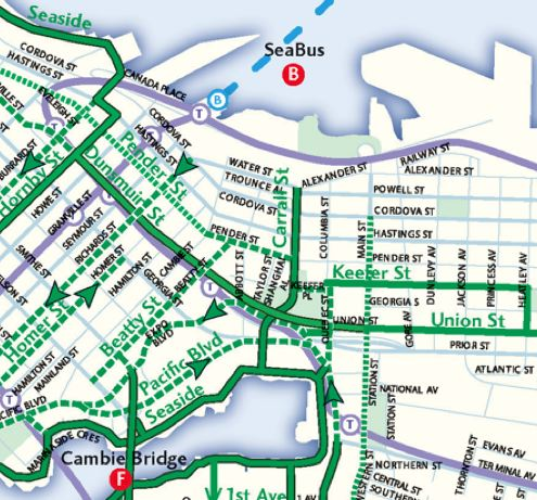 Map of Local Bike Routes